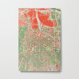 New Delhi map classic Metal Print