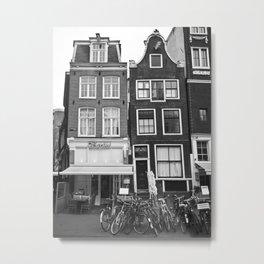 Poetic Amsterdam houses Metal Print