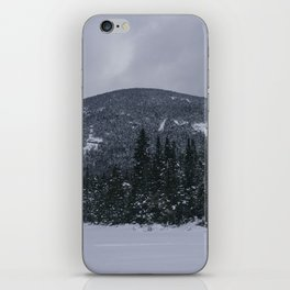 Winter at Lonesome Lake in the White Mountains iPhone Skin