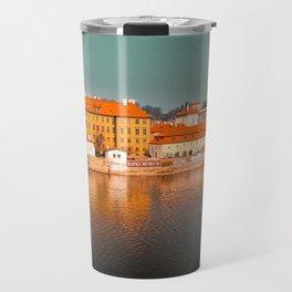 Beautiful Prague cityscape Travel Mug