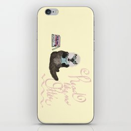 Martin the Otter: Read Like No Otter-by Hxlxynxchxle iPhone Skin