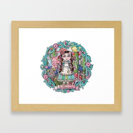 """""""La mexicaine""""/ """"The mexican girl"""" Framed Art Print"""