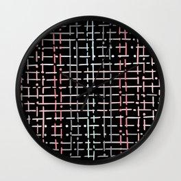 pastel doodle on black Wall Clock