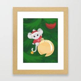 Christmas Mouse Framed Art Print