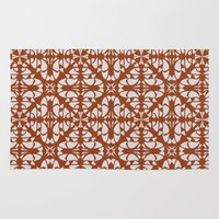 orange pattern Area & Throw Rugs featuring Orange Pattern by Annabelle A.