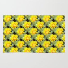 Prickly Yellow Beauty Rug