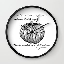 Thoreau's Pumpkin Wall Clock