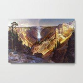 The Grand Canyon of the Yellowstone by Thomas Moran Metal Print