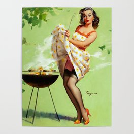 Smoke Screen Vintage Pin-up Girl Poster