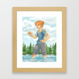 Kyran in Woods 2 Framed Art Print