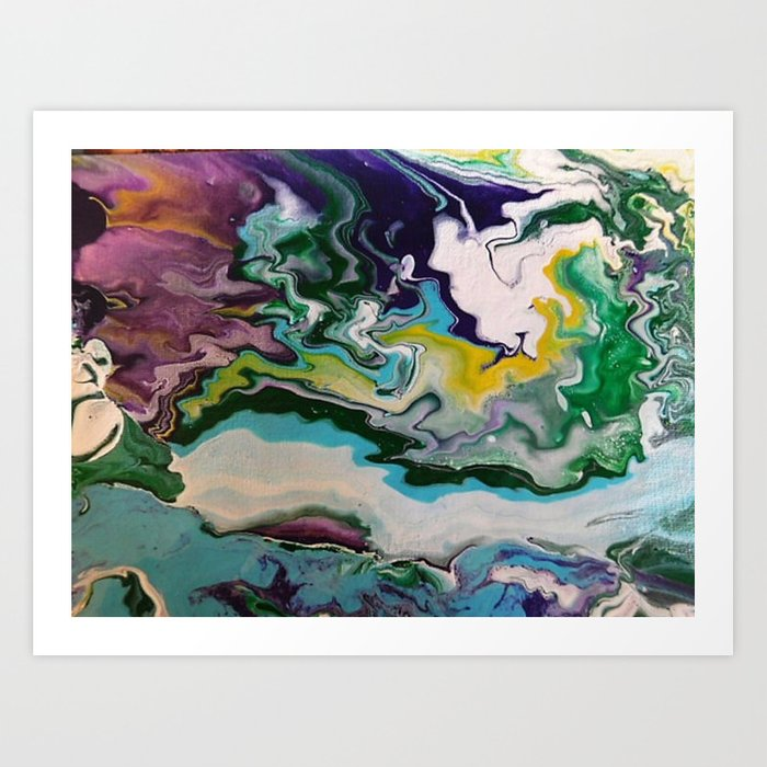 Cool Colors Art Print