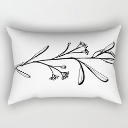 Gum Tree Branch with Blossom by Jess Cargill Rectangular Pillow