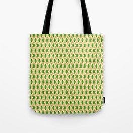 Green Waves Tote Bag