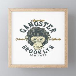 Gangster Brooklyn Framed Mini Art Print