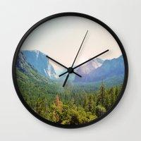 yosemite Wall Clocks featuring Yosemite by Chelem