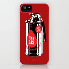 Tear gas grenade iPhone Case