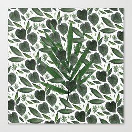 Leafy Love Surprise Canvas Print
