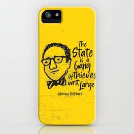 Murray Rothbard Illustration iPhone Case