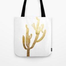 Golden Cactus Tote Bag