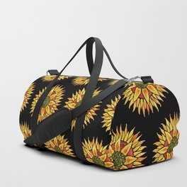 Sunflower Starburst Duffle Bag