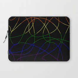 Abstract Threads – LGBTQ Pride Flag Laptop Sleeve