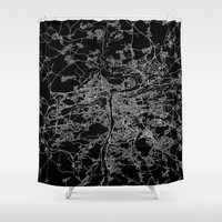 prague Shower Curtains featuring Prague by Line Line Lines
