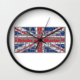 Cockney Rhyming slang / Union Jack Wall Clock