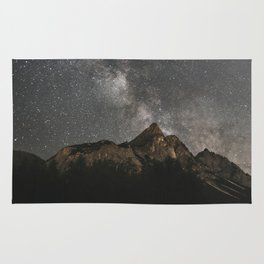 Milky Way Over Mountains - Landscape Photography Rug
