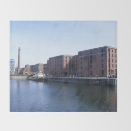 Pump house Pub and the Albert Dock Throw Blanket