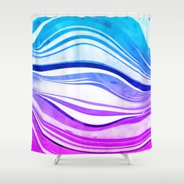 Melting Vivids, 2016 Shower Curtain