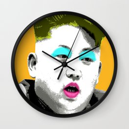 Marilyn Jong Un - Yellow Wall Clock