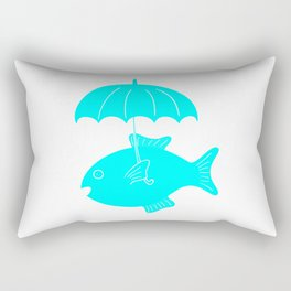Fish with umbrella Rectangular Pillow