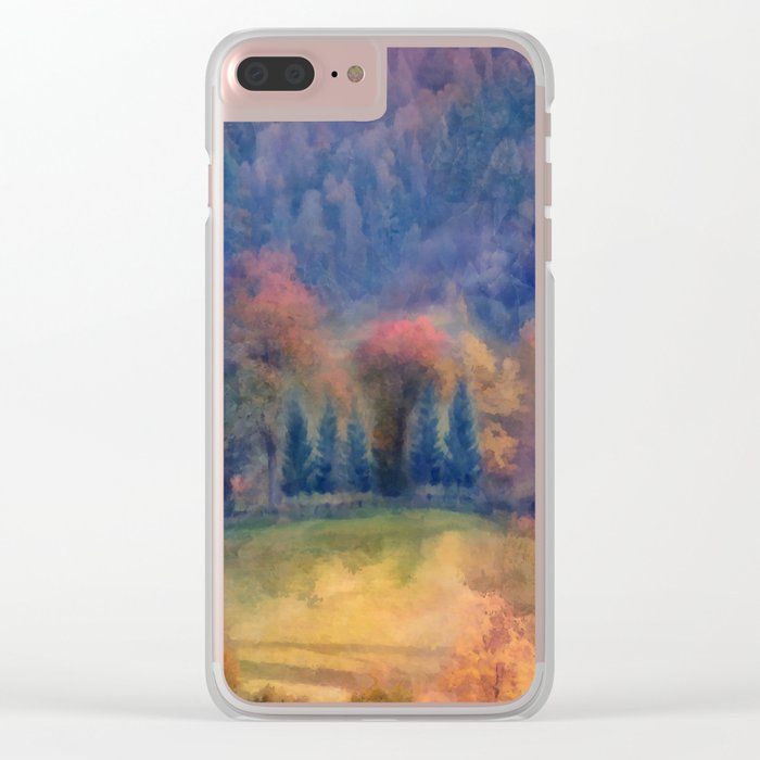 Fall landscape Clear iPhone Case