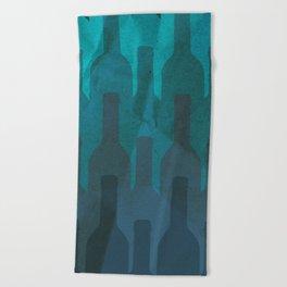 Blue wine Beach Towel
