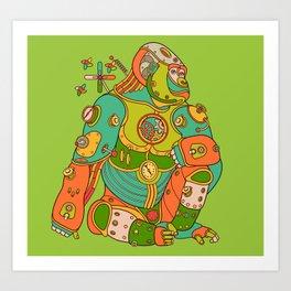 Gorilla, cool wall art for kids and adults alike Art Print