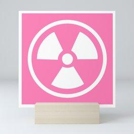 Pink Radioactive Symbol Mini Art Print