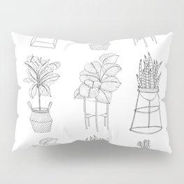 Houseplants Pattern Pillow Sham