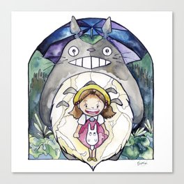 Mei | Studio Ghibli Stained Glass Canvas Print