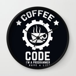 Programmer - Coffee And Code Wall Clock