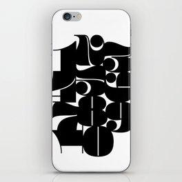 Numbers Black iPhone Skin