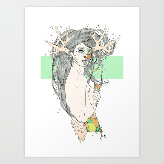 colour blind VI Art Print