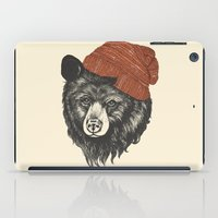 school iPad Cases featuring zissou the bear by Laura Graves