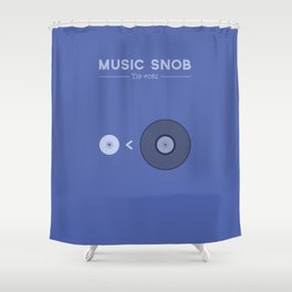 "NOT ""The New Vinyl"" — Music Snob Tip #082 Shower Curtain"