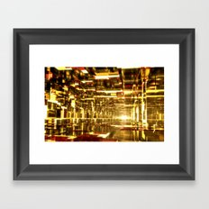 Golden Tunnels Framed Art Print