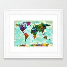 World Map - 1 Framed Art Print