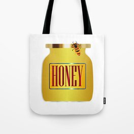 Honey Pot And Bee Tote Bag