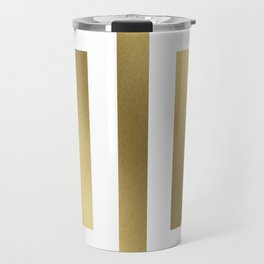 Gold Greek Stripes Travel Mug