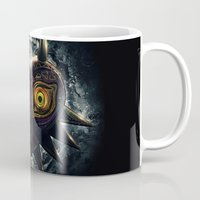 majora Mugs featuring Epic Pure Evil of Majora's Mask by Barrett Biggers
