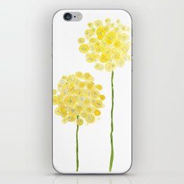 two abstract dandelions watercolor iPhone Skin