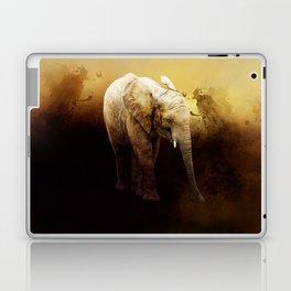 The cute elephant calf Laptop & iPad Skin